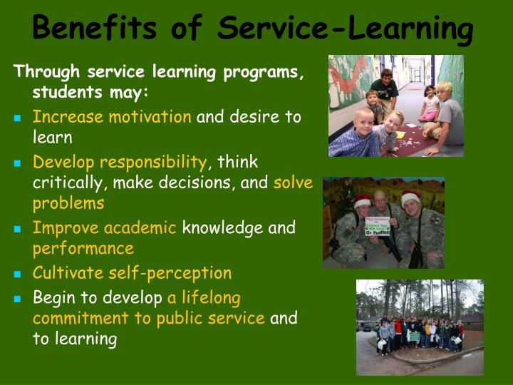 Benefits of Service-Learning