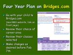 four year plan on bridges com