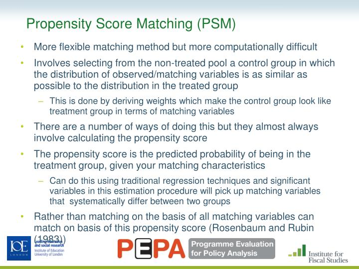 Propensity Score Matching (PSM)