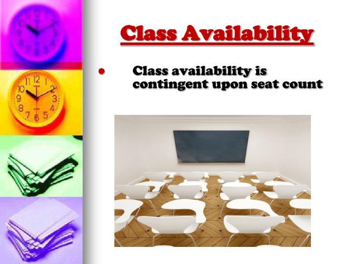 Class Availability