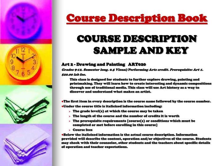 Course Description Book