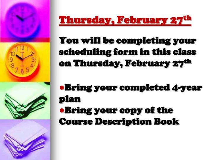 Thursday, February 27