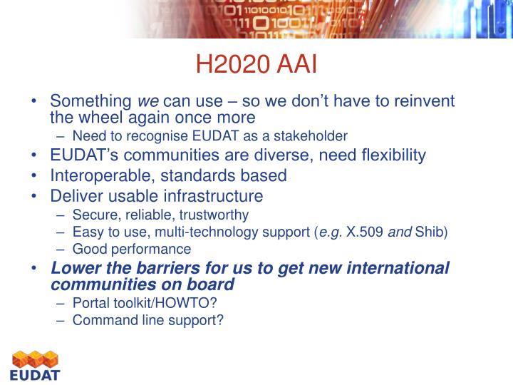 H2020 AAI