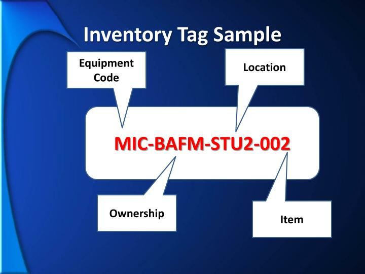 Inventory Tag Sample