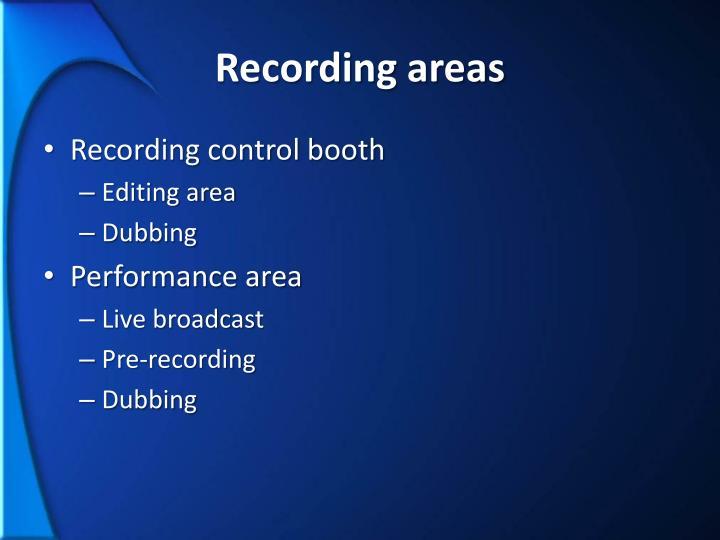 Recording areas
