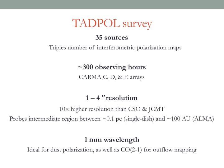 TADPOL survey