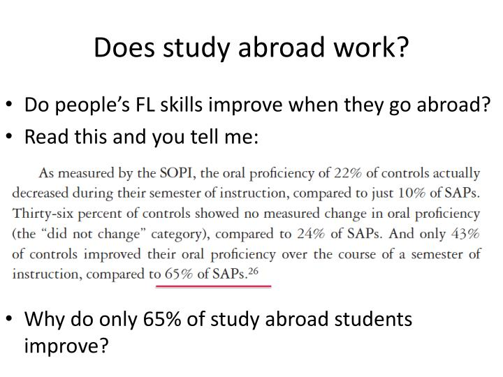 Does study abroad work