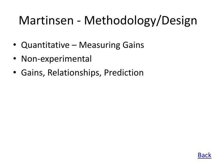 Martinsen - Methodology