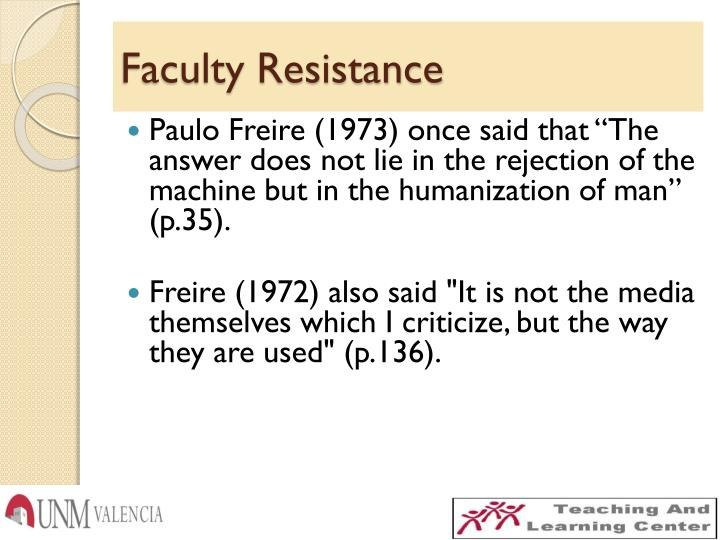 Faculty Resistance