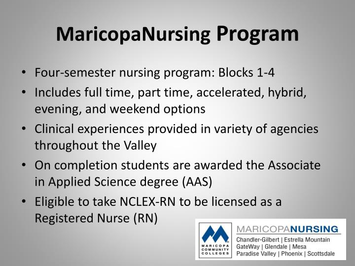 Maricopanursing program