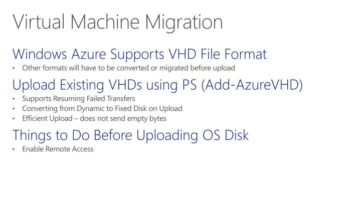Windows Azure Supports VHD File Format