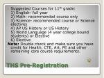 ths pre registration1