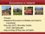 excursions in ireland