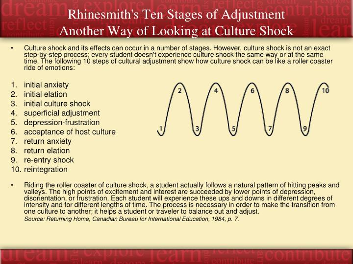 Rhinesmith's Ten Stages of Adjustment