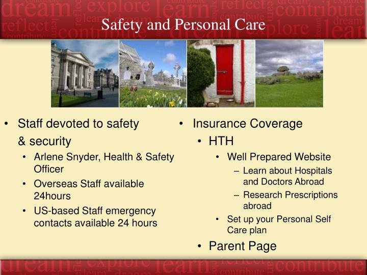 Safety and Personal Care