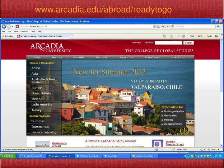 www.arcadia.edu/abroad/readytogo