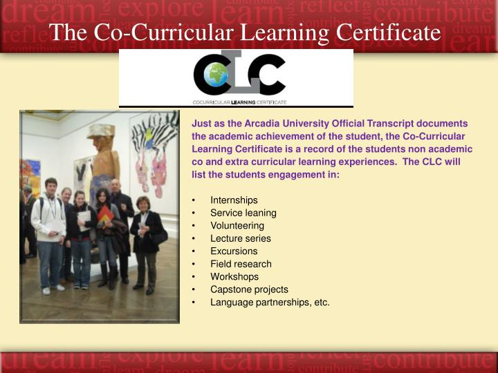 The Co-Curricular Learning Certificate
