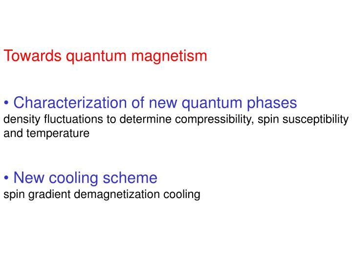 Towards quantum magnetism
