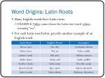 word origins latin roots