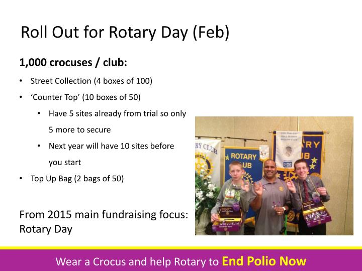 Roll Out for Rotary Day (Feb)