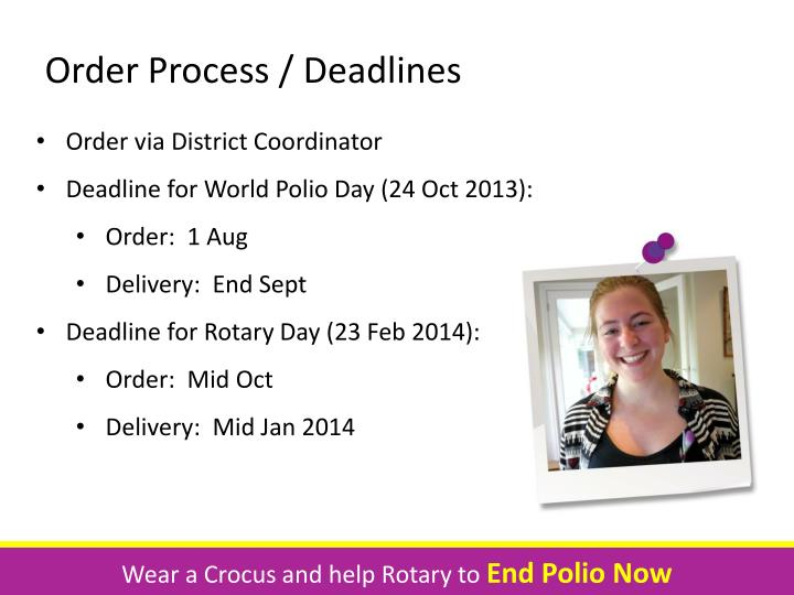 Order Process / Deadlines