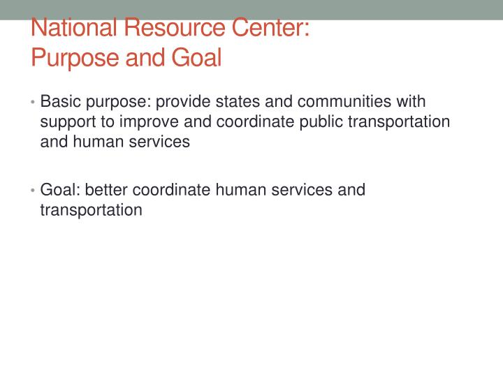 National Resource Center:
