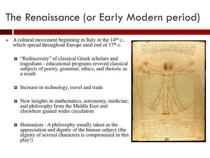 the renaissance beginning of the modern Define renaissance: the transitional movement in europe between medieval and modern times beginning in the 14th century — renaissance in a sentence.
