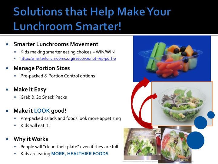 Solutions that Help Make Your Lunchroom Smarter!