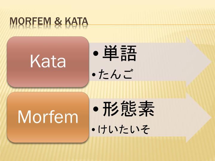 Morfem & Kata