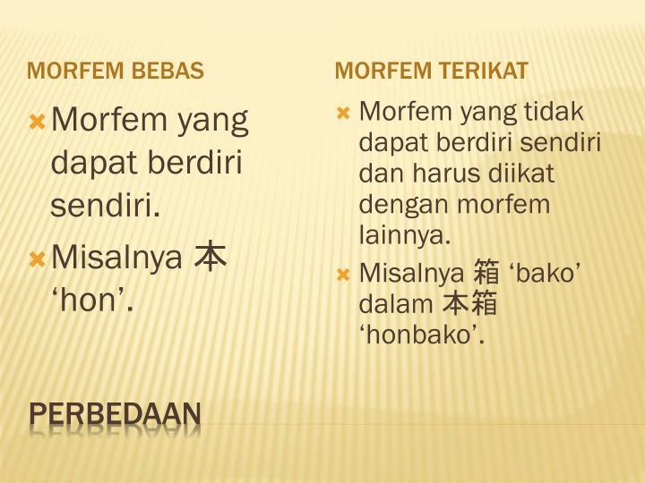 Morfem Bebas