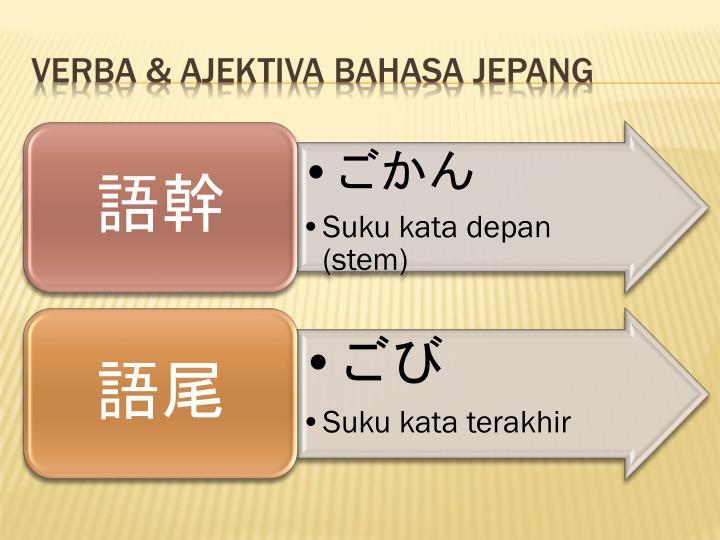 Verba & Ajektiva Bahasa Jepang