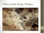 valley of the kings thebes