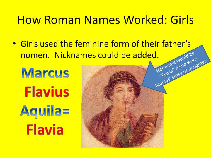 How Roman Names Worked: Girls