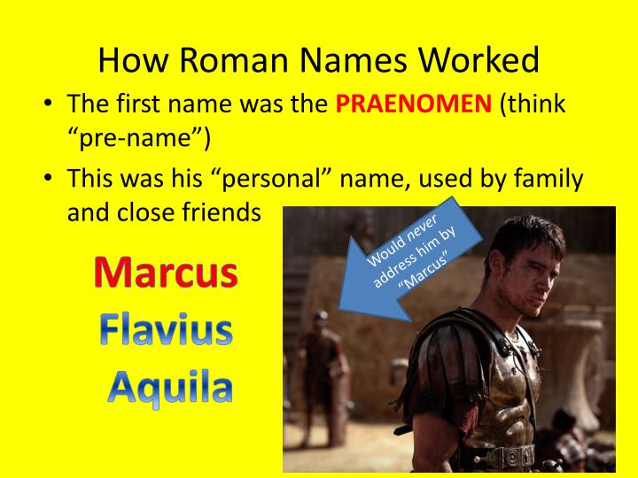 How roman names worked1