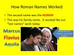 how roman names worked2
