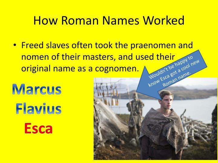 How Roman Names Worked