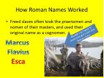 how roman names worked4