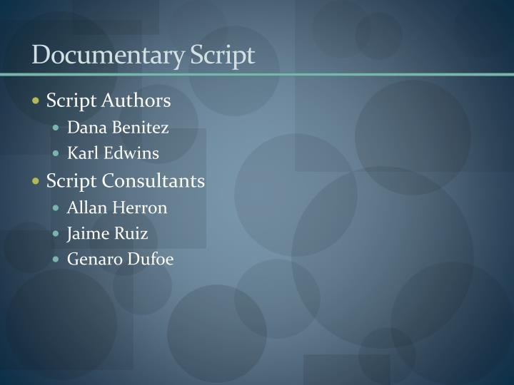 Documentary Script
