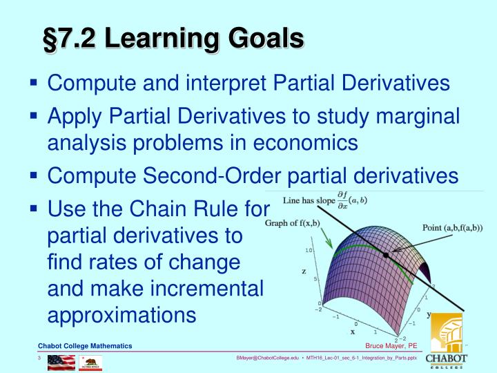 §7.2 Learning Goals