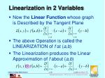 linearization in 2 variables2