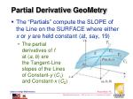 partial derivative geometry