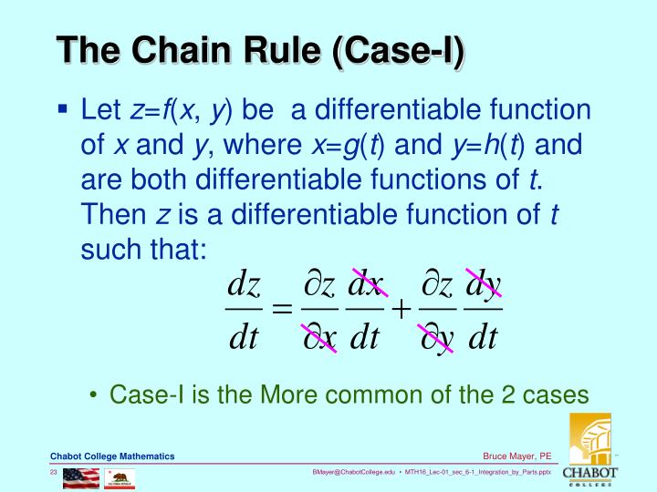 The Chain Rule (Case-I)