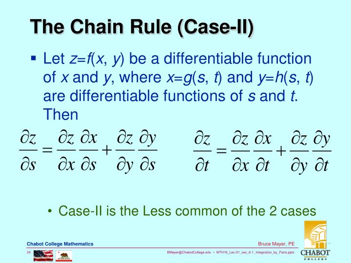 The Chain Rule (Case-II)