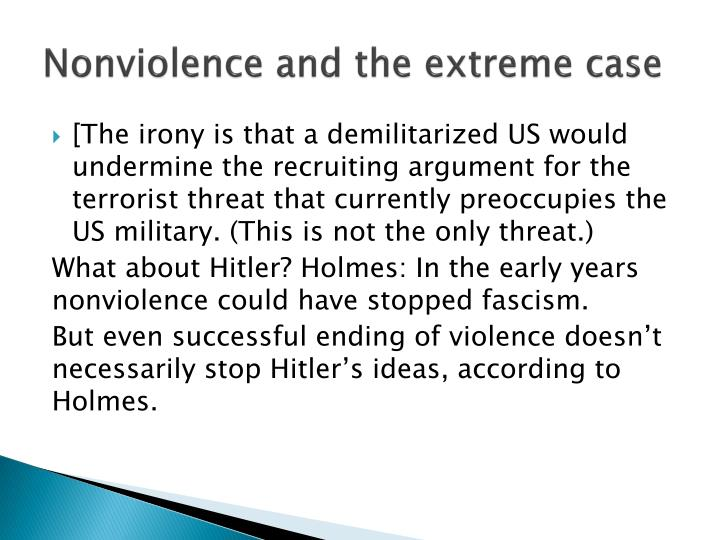 Nonviolence and the extreme case