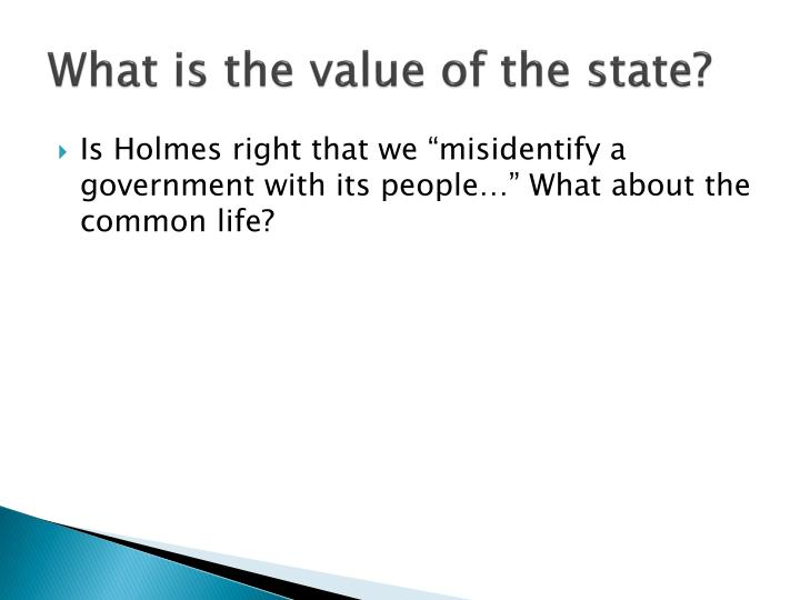What is the value of the state?