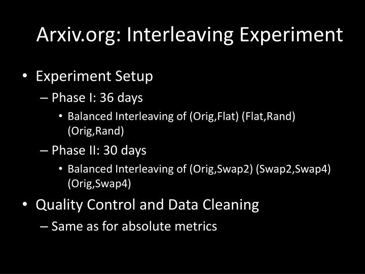 Arxiv.org: Interleaving Experiment