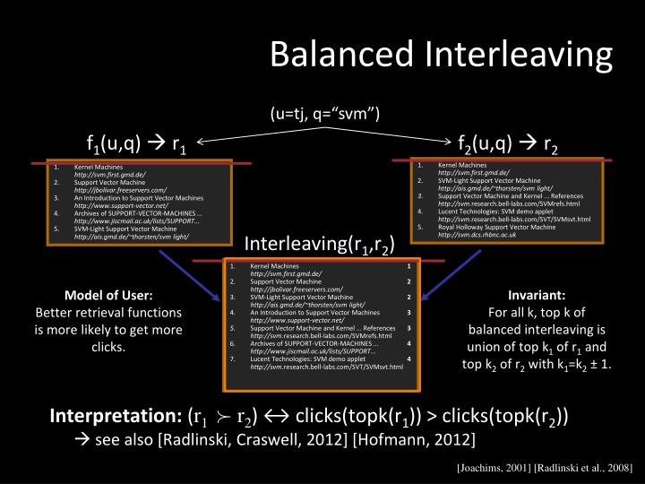 Balanced Interleaving