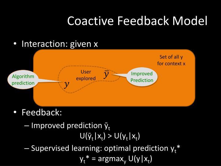Coactive Feedback Model