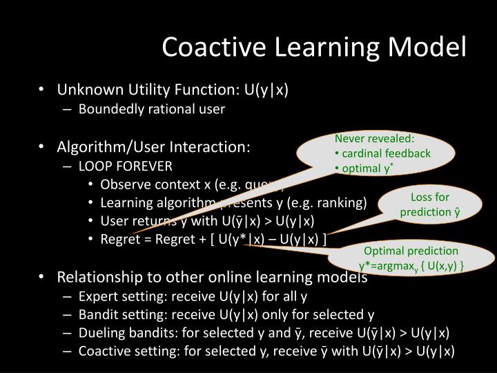 Coactive Learning Model