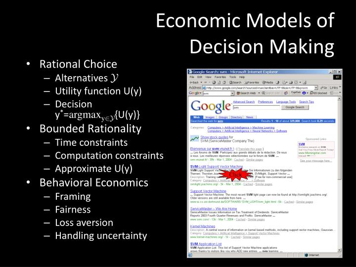 Economic Models of